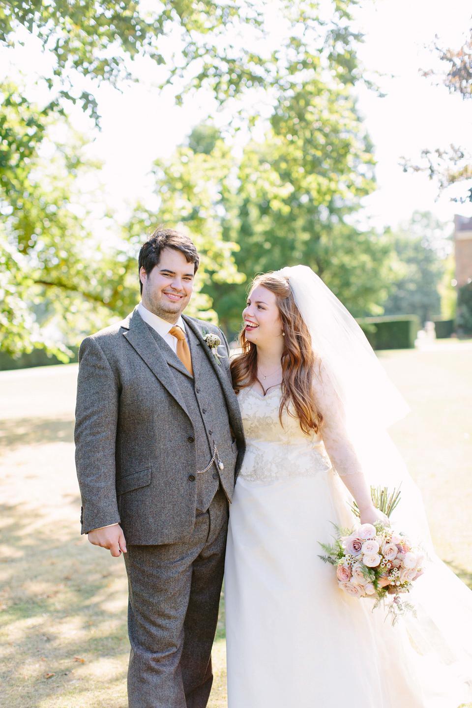 A Bespoke Gold Dress For a Crafty Homespun Wedding