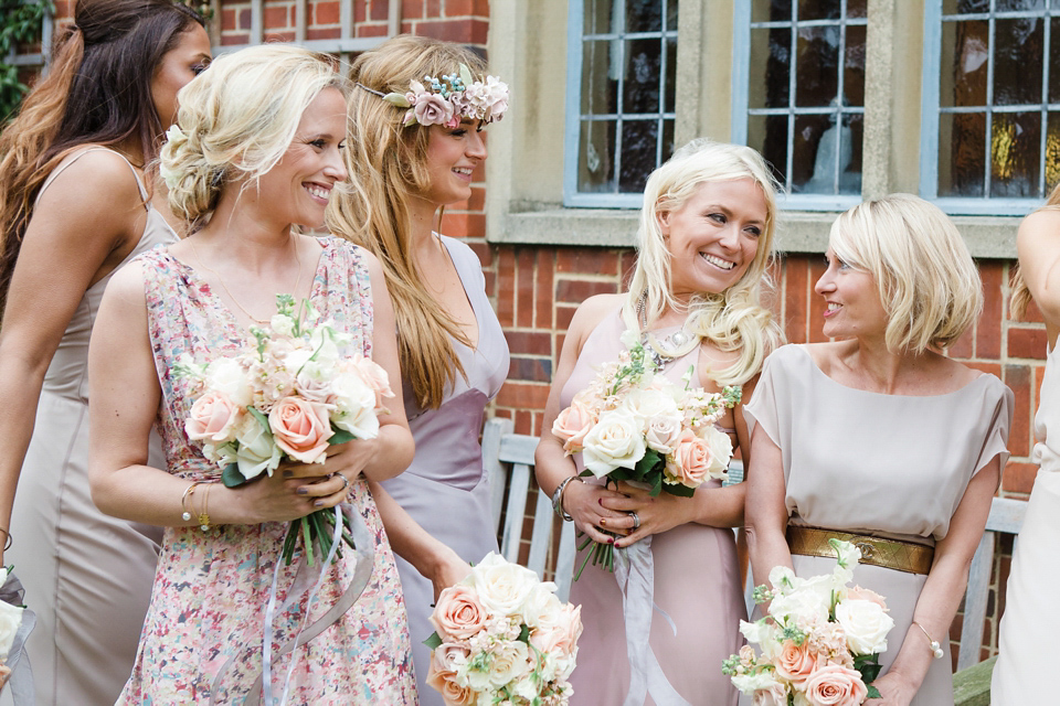 13 Bridesmaids for a Laid Back and Glamorous British Backyard Wedding (Weddings )