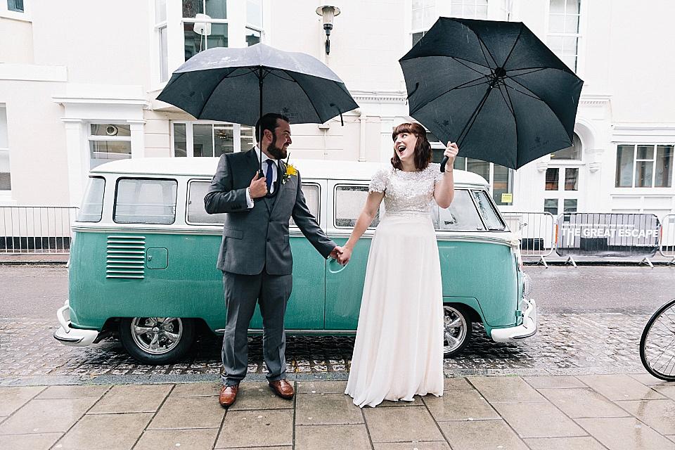 A Rainy Day Brighton Bandstand Wedding