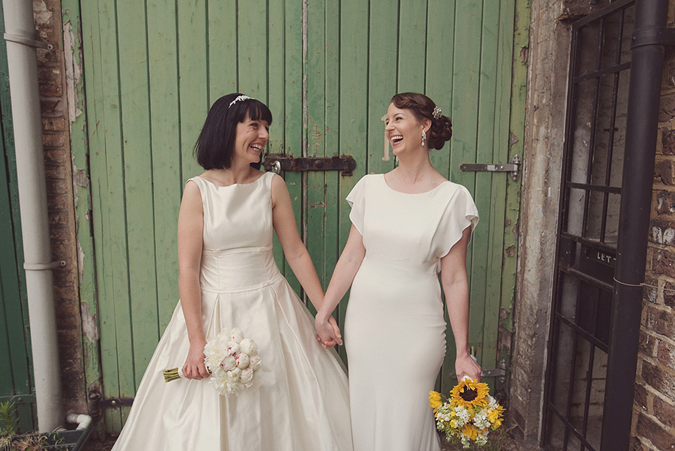 A 1930s Inspired Industrial Chic City Wedding with Two Beautiful  Dresses