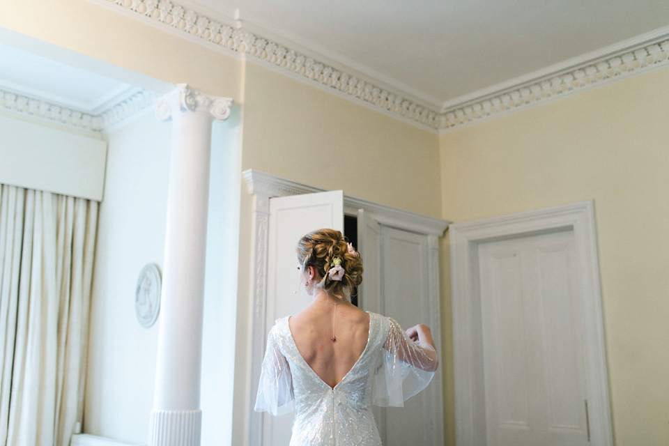 A Sequin Wedding Dress by Eliza Jane Howell for a Mint Green Country House Wedding (Weddings )