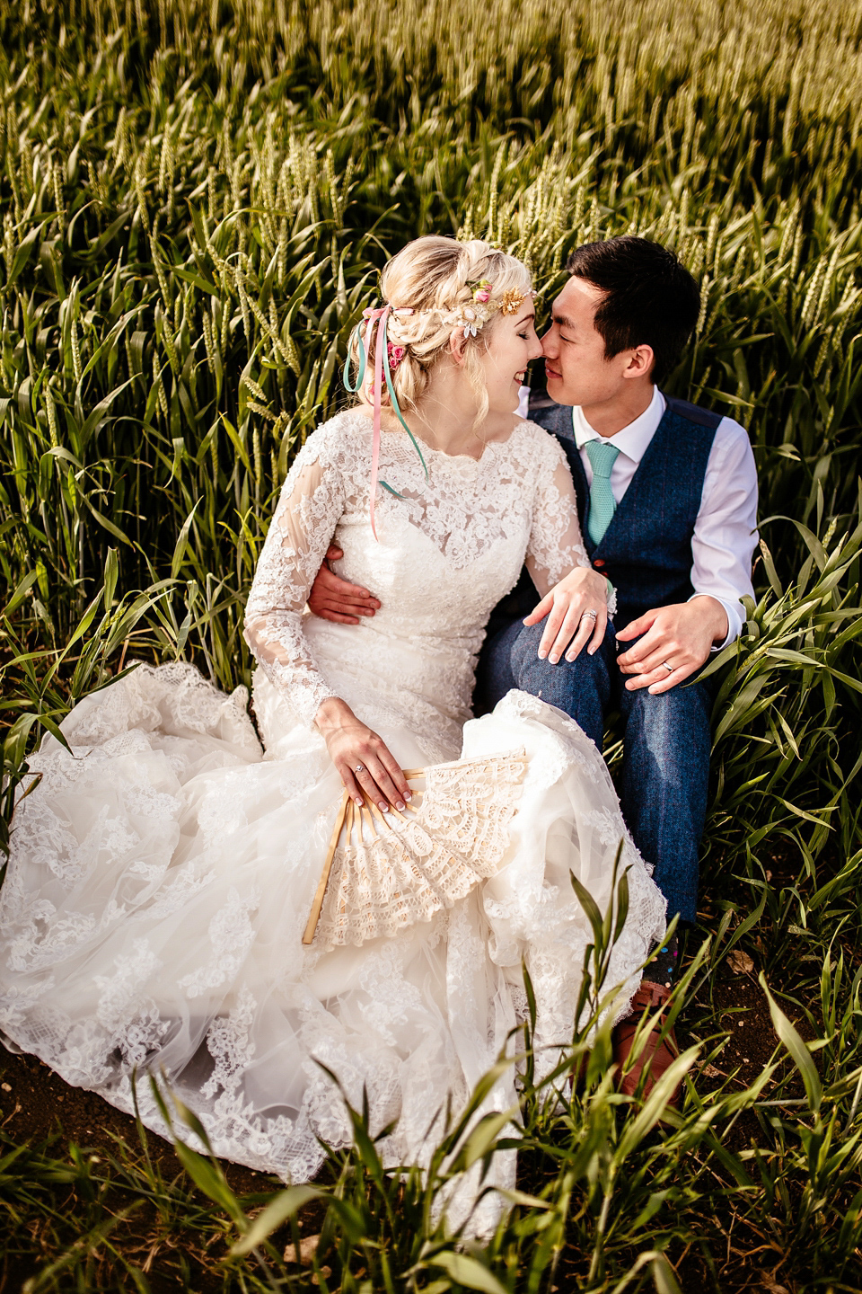 Pink Peonies and a Fishtail Gown for a Quirky and Elegant Vintage ...