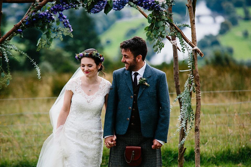 A Maggie Sottero Dress For A Rustic and Woodland Inspired Outdoor Humanist Wedding