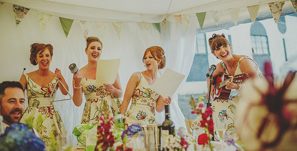 Stephanie Allin Off-The-Shoulder Elegance For a Colourful Retro Vintage Inspired Wedding (Weddings )