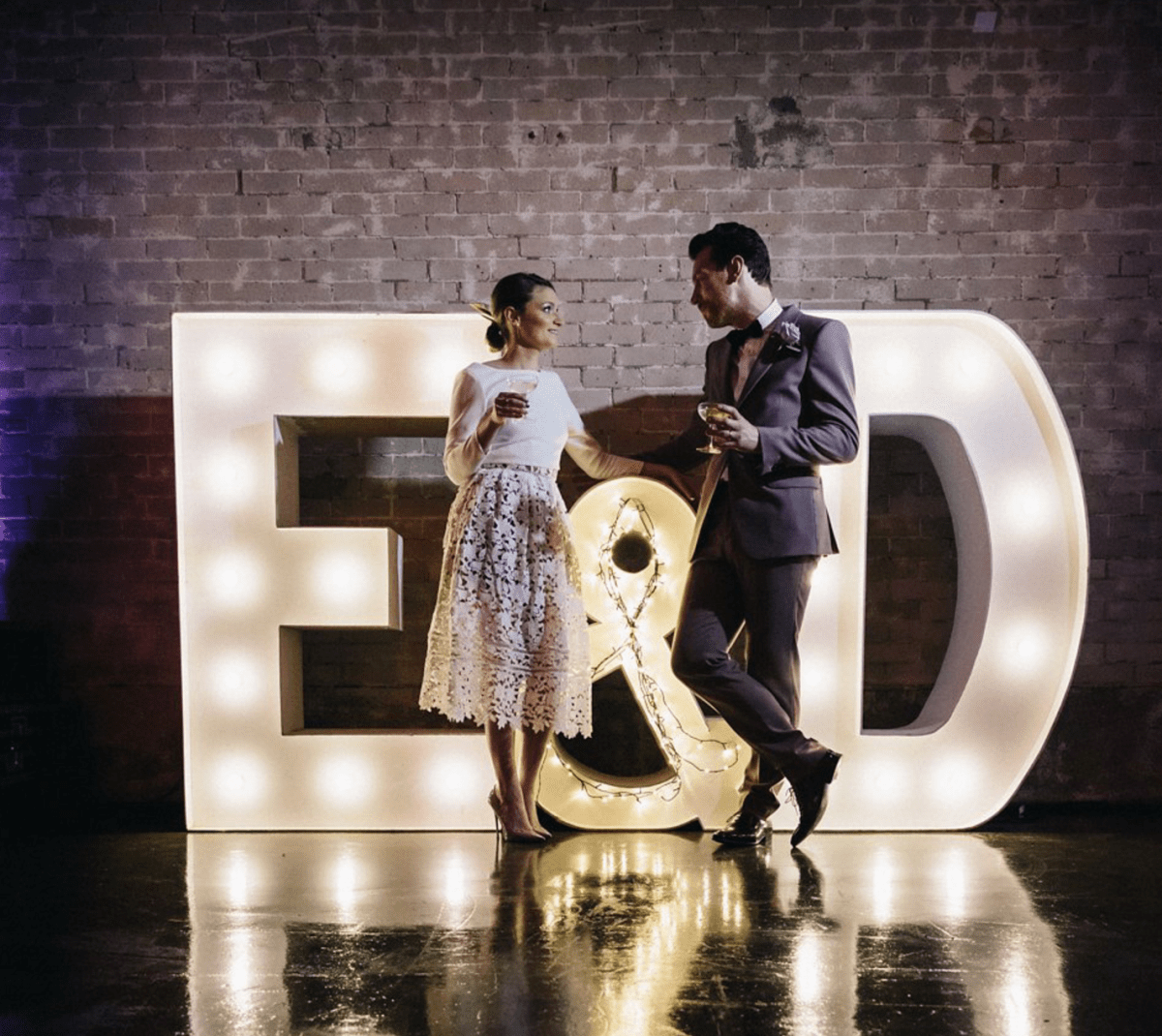 A 5pm Ceremony and Warehouse Reception for a Quirky and Stylish Winter Wedding
