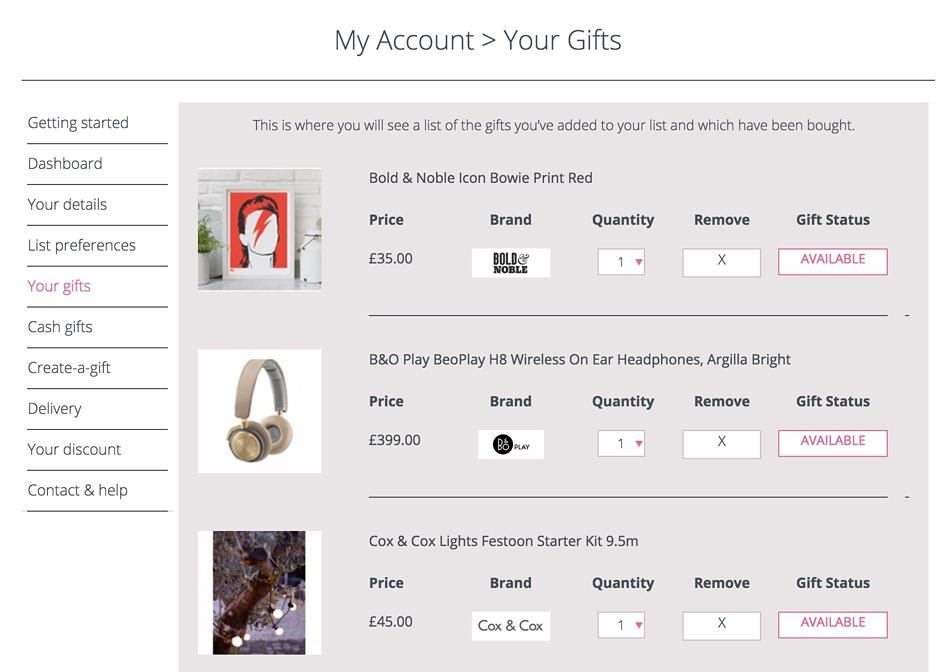 Wedding Gift List Service Uk : ... : The Prezola Wedding Gift List Service + Ten of my favourite gifts