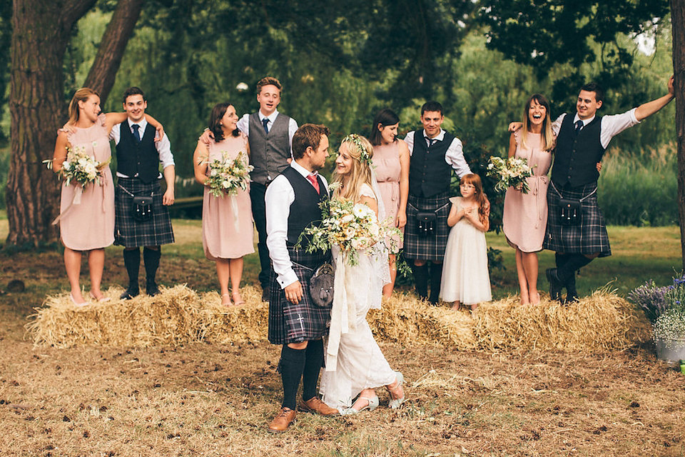 A Jane Bourvis Gown a Lovettes' Rustic and Whimsical Woodland Wedding