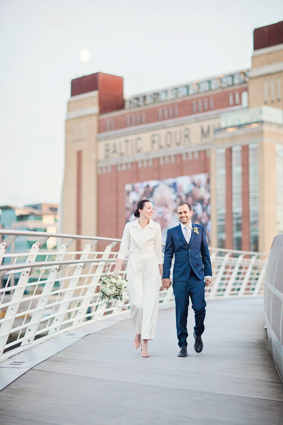 An Emilia Wickstead Jumpsuit for a Modern Wedding at The Baltic Centre for Contemporary Arts