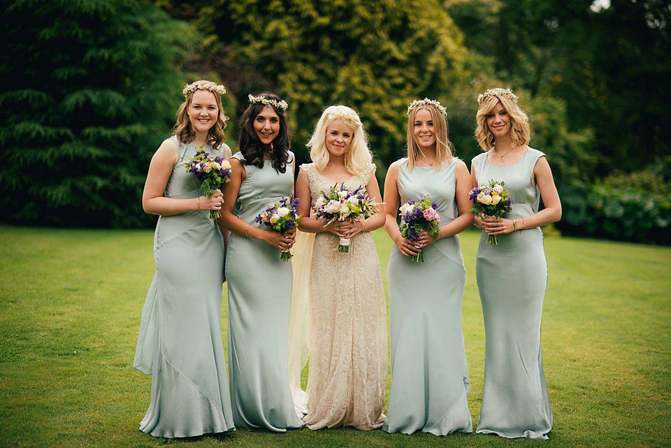 A Pale Gold Lace Dress for a Charming and Elegant English Country Wedding