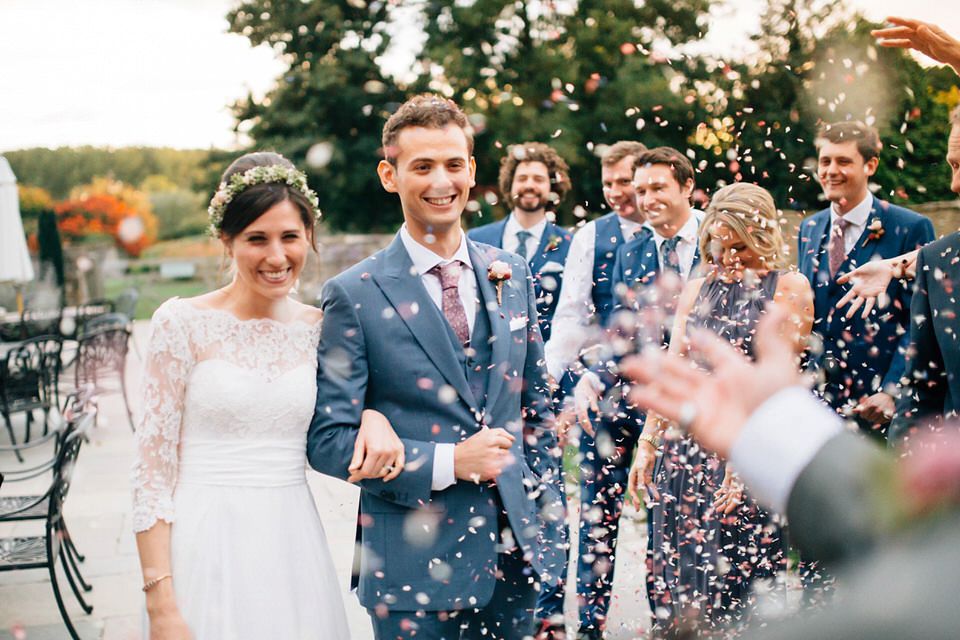 A Shanna Melville Gown for a Relaxed and Elegant October Cotswolds Wedding (Weddings )