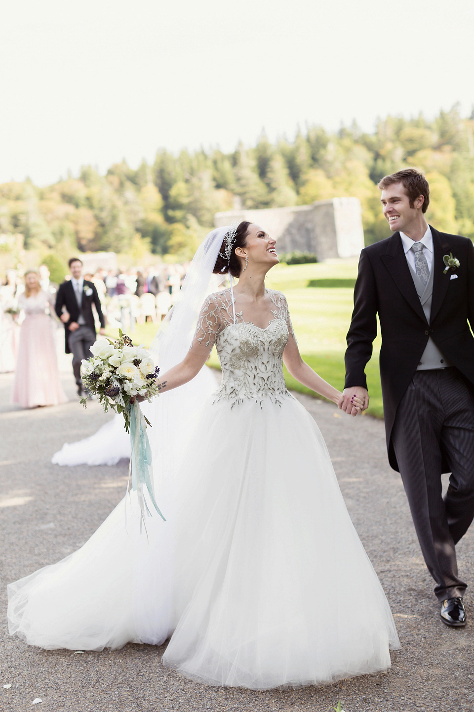 A Marchesa Gown for a Fairy Tale Celtic and Jewish Fusion Wedding in an Irish Castle