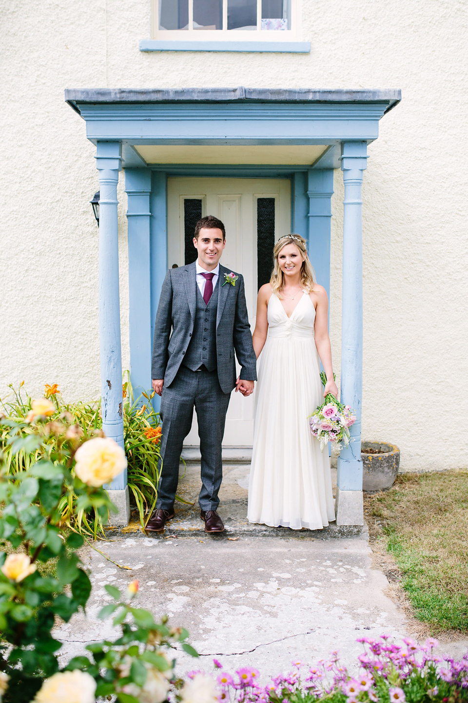 Laurie wore a Belle and Bunty gown for her relaxed and rustic wedding on the family farm. Photography by Hayley Savage.