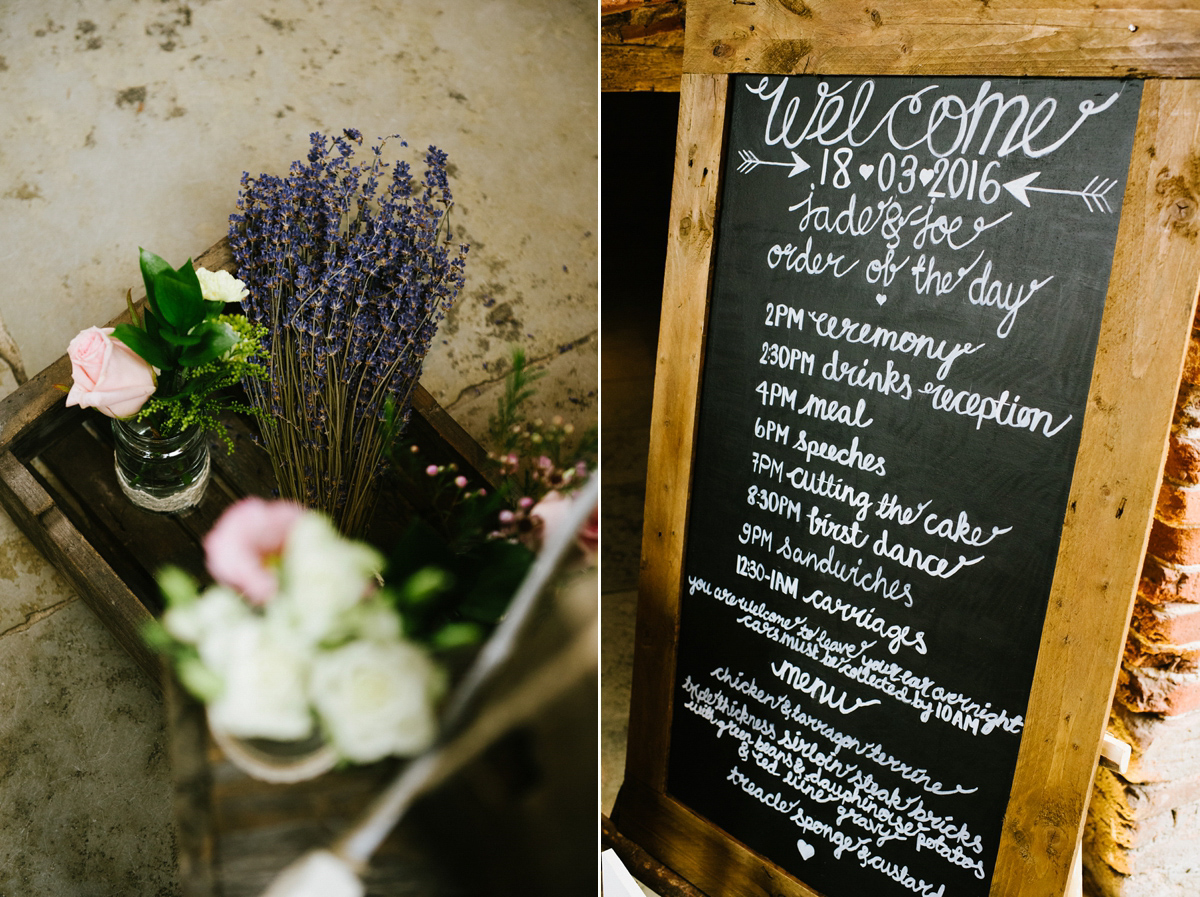 A Blush Pink Gown and Leather Jacket for a Lovely Spring Barn Wedding (Weddings )