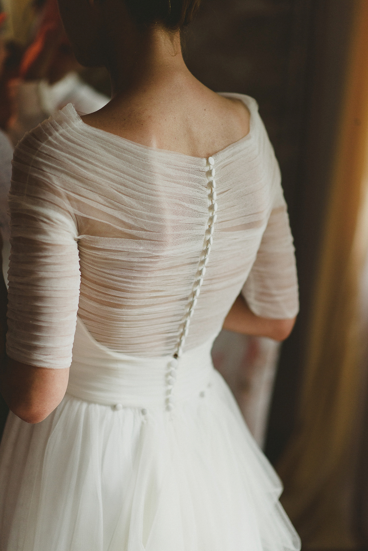 Roxana wore a Pronovias gown for her intimate summer wedding in Romania.