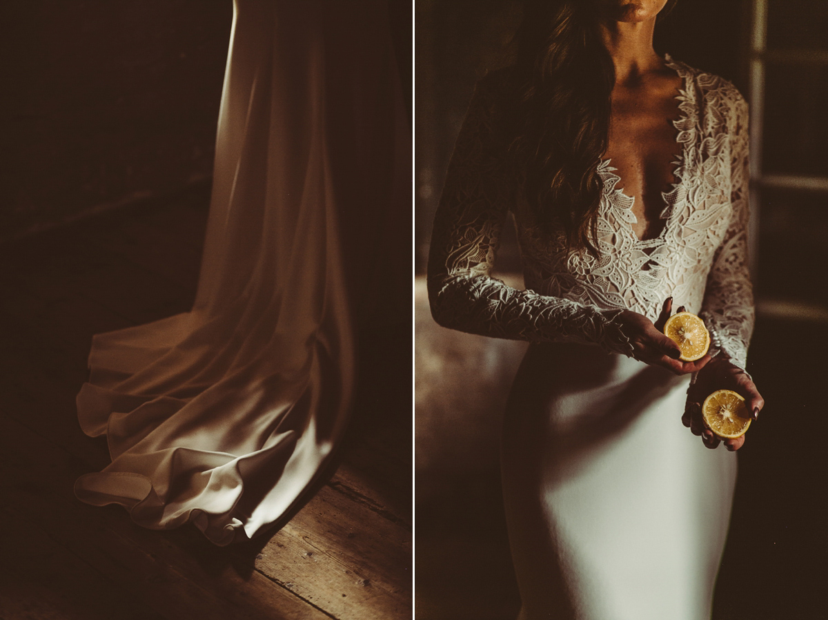 A Romantic Tara Keely Dress For An Intimate And Unplugged Wedding In Italy (Weddings )