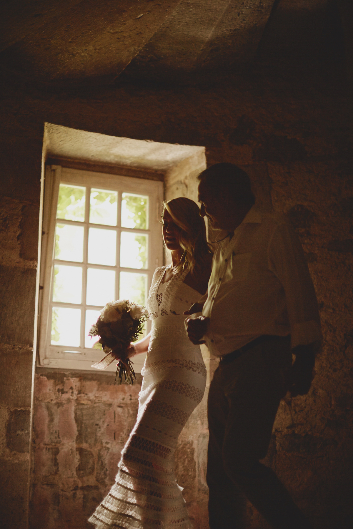 A Jonathan Simkhai Dress for a Chic and Rustic French Chateau Wedding (Honeymoon Weddings )