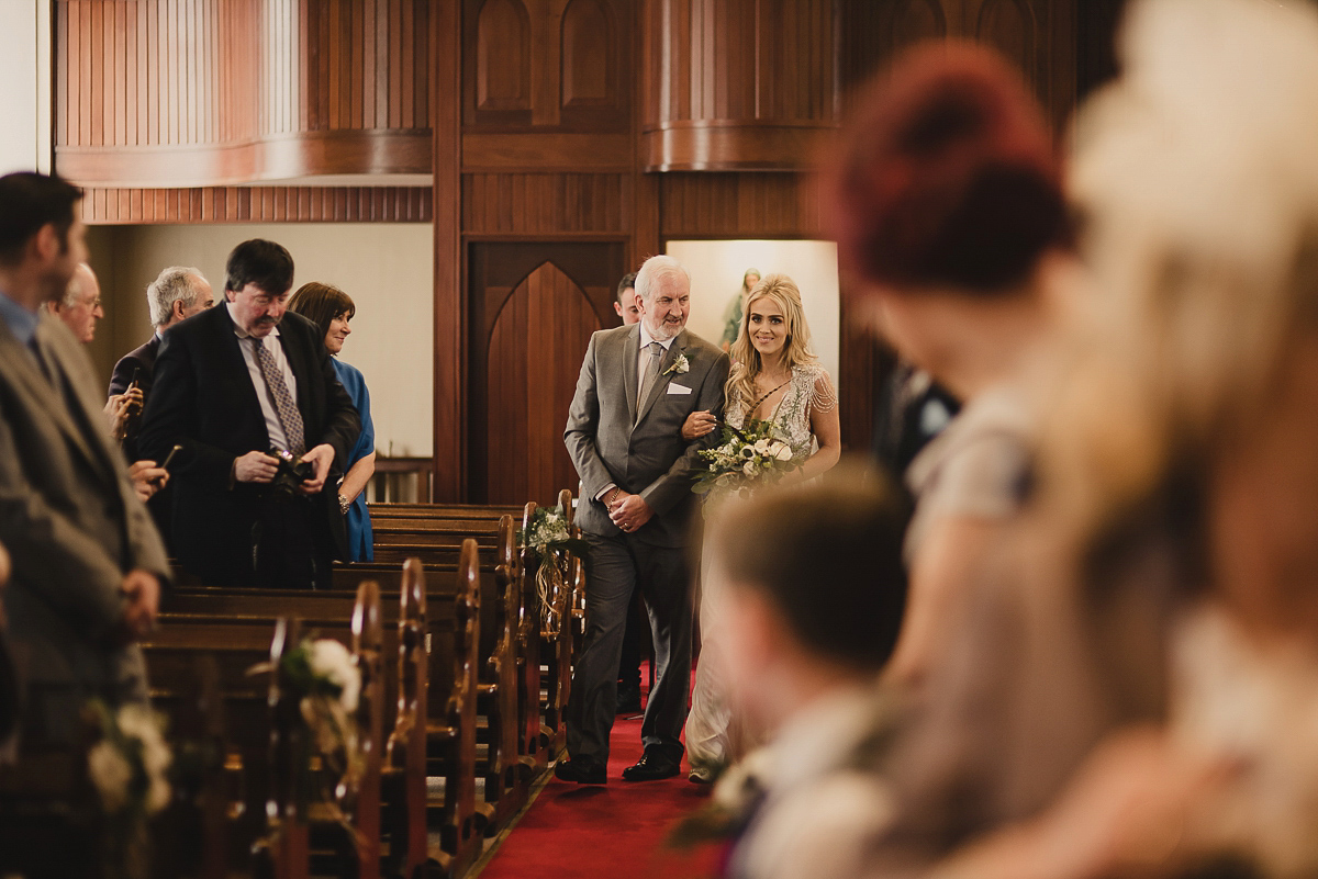 Anna Campbell Glamour And Touches Of Gold for a Bohemian Irish Bride (Weddings )