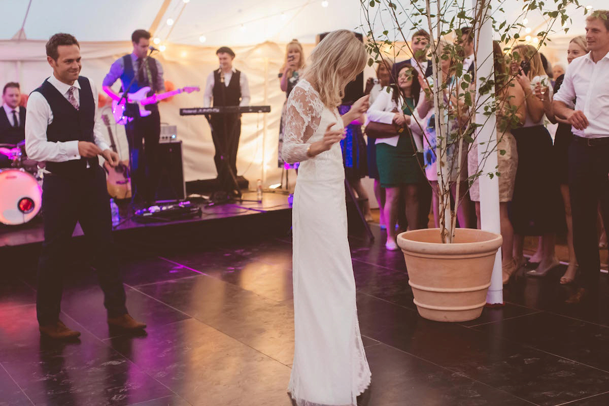 A Rembo Styling Gown For A Relaxed Family Home Wedding In Devon (Weddings )