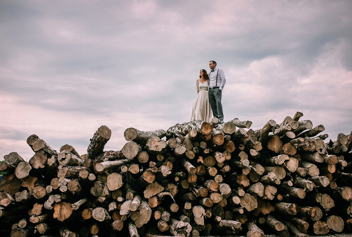 Kate Beaumont Lace for a Modern, Minimalist and Industrial Chic Style Wedding