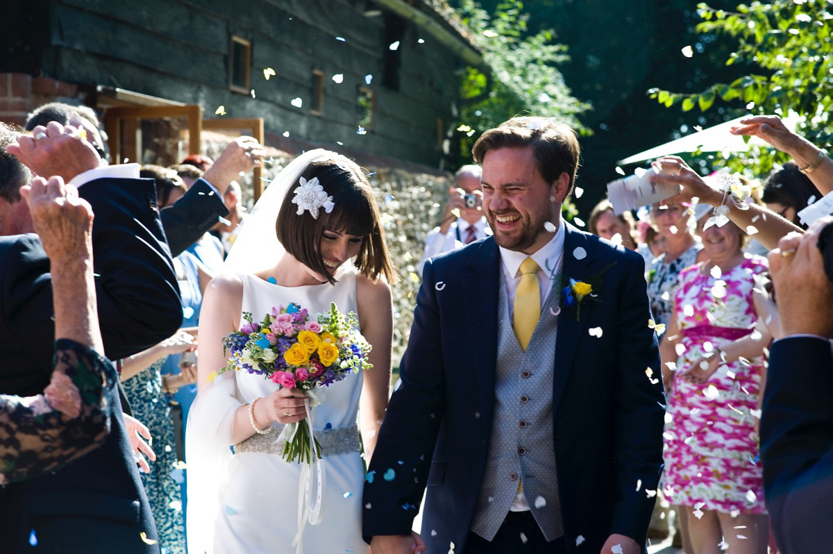 A Charlie Brear Gown for a 1920's and Literary Inspired Summer Barn Wedding