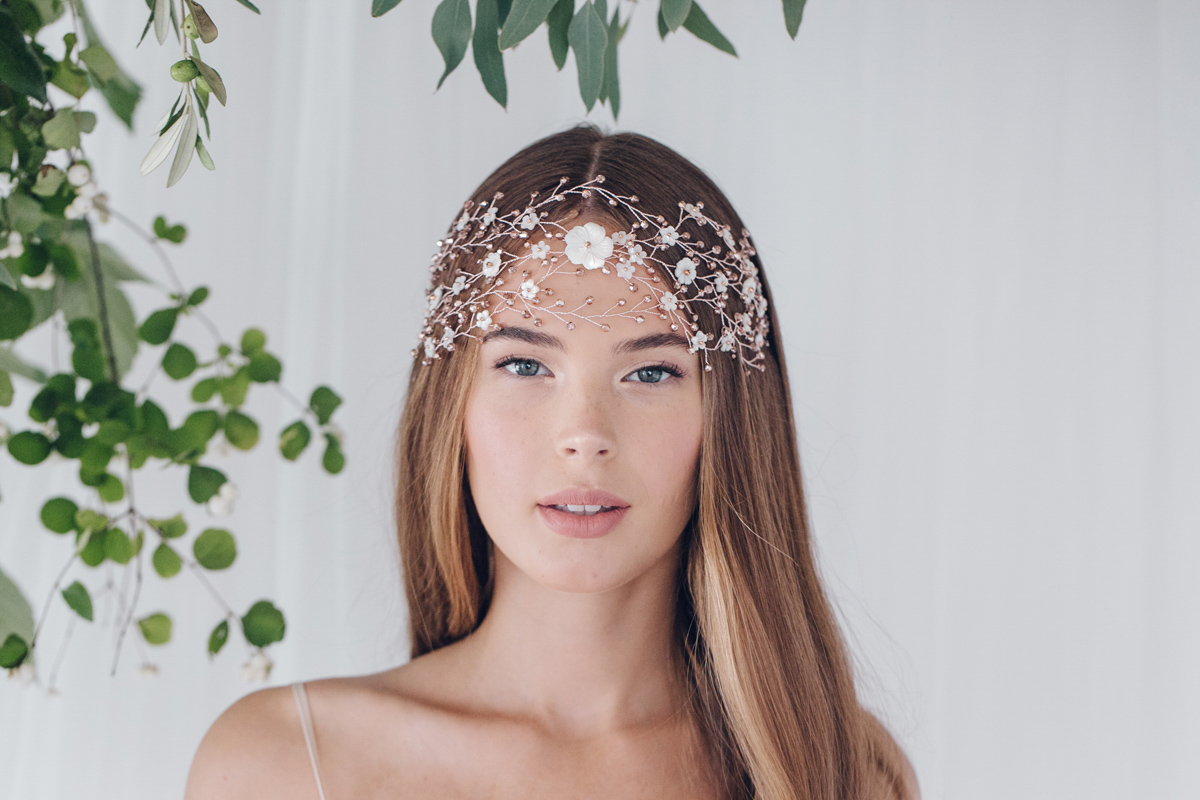 Wild Rose - The luxurious 2017 bridal accessories collection of hair vines, headpieces and hair pins, by Debbie Carlisle.