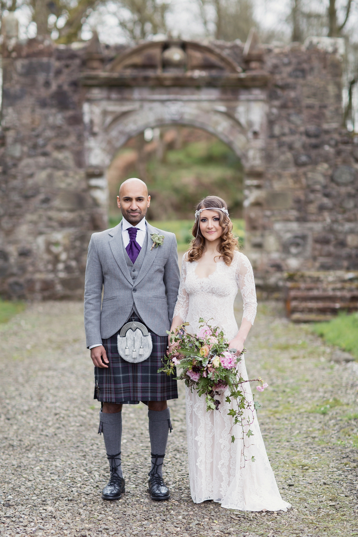 A Scottish, Springtime Fairytale Wedding for a Claire Pettibone ...