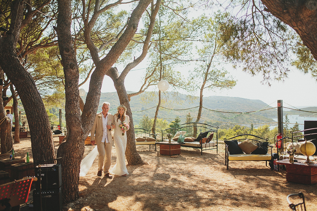 A Glamorous Eliza Jane Howell Gown for a Romantic Croatian Island Wedding (Weddings )