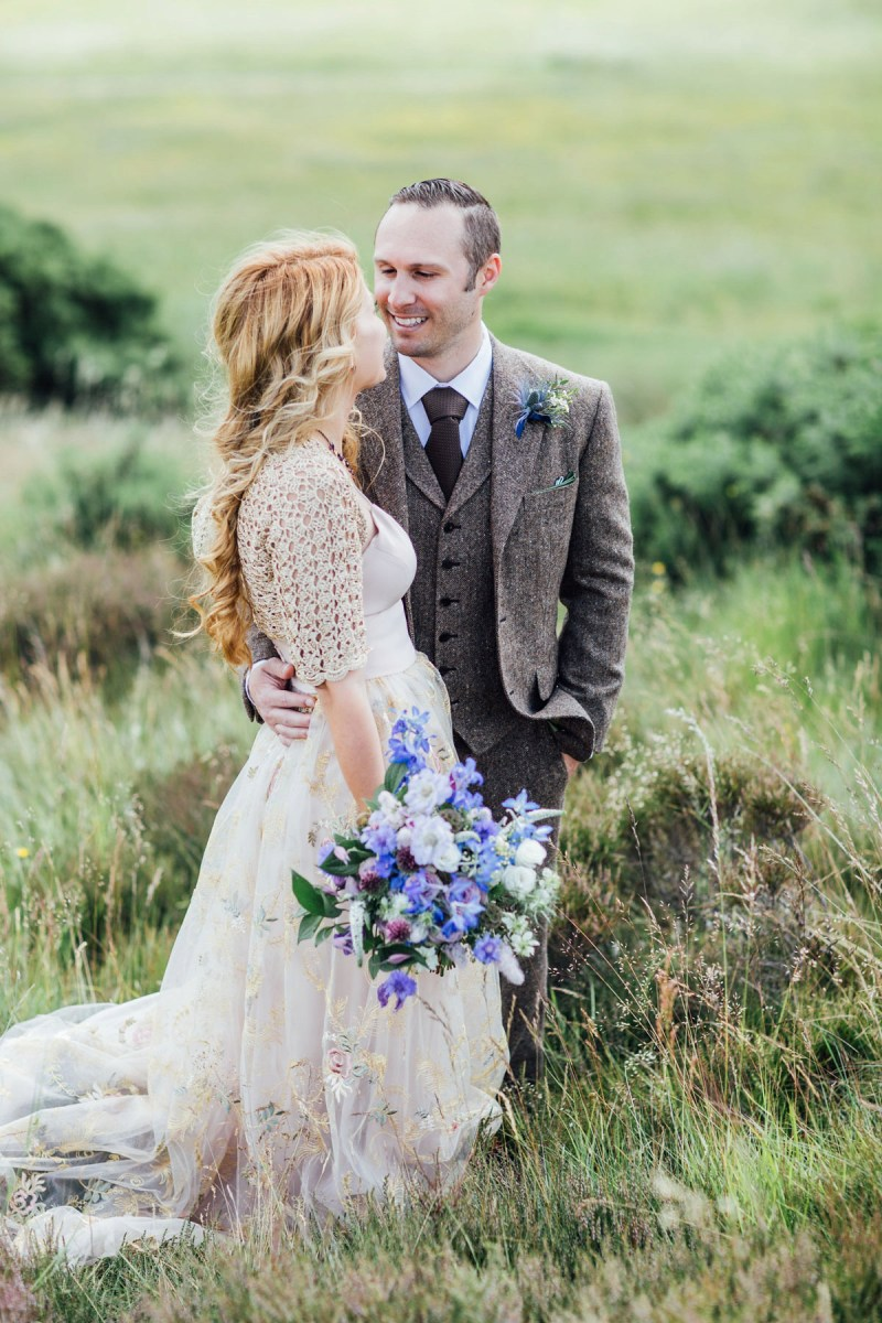 A BHLDN Gown for an Intimate Scottish Elopement