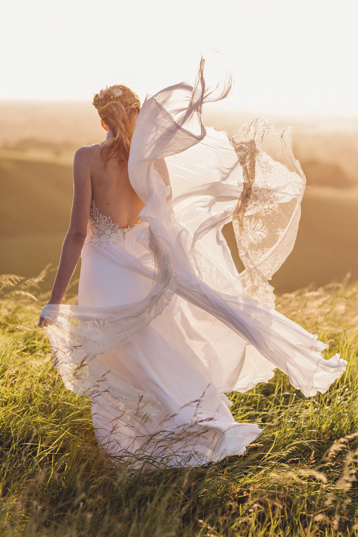 A joyous outdoor and nature inspired christian wedding for Nature themed wedding dress