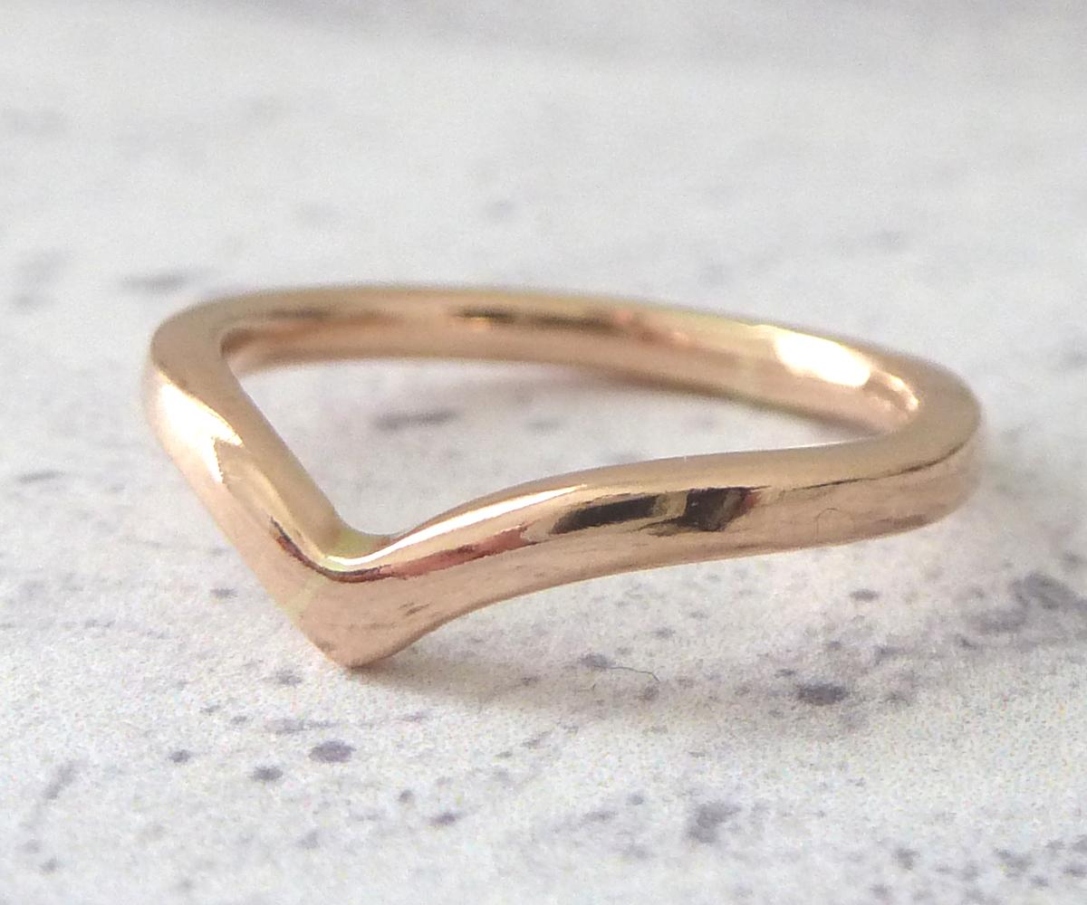 2mm rose gold wishbone ring by nikki stark - Artisan Wedding Rings