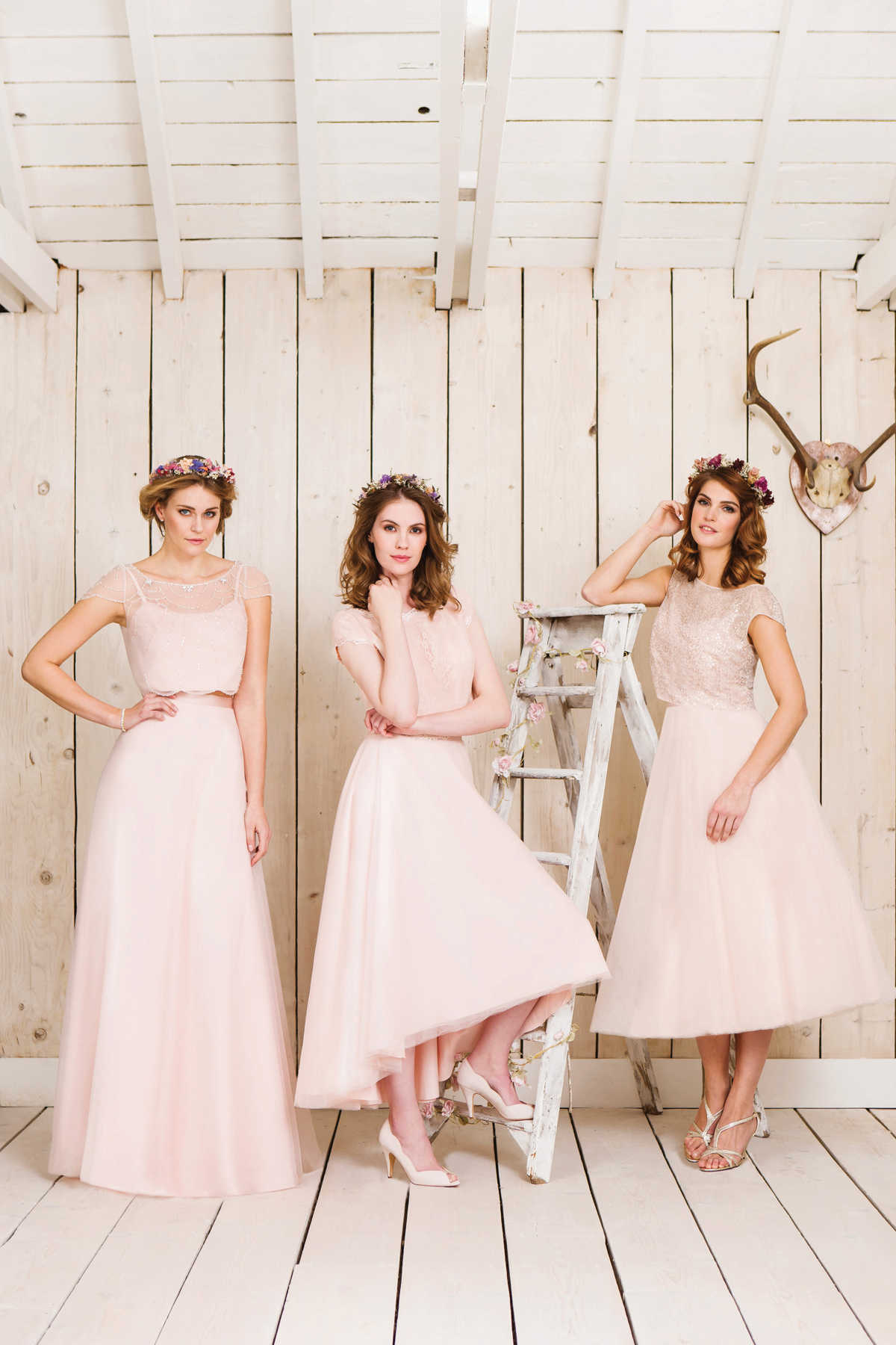 True bride figure flattering wedding dresses for brides pastel pink bridesmaids dresses from true bride ombrellifo Gallery