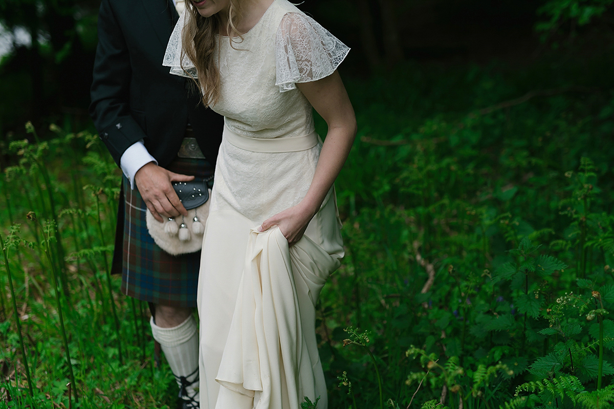 Belle & Bunty Lace For A Natural and Humanist Outdoor Wedding In Scotland