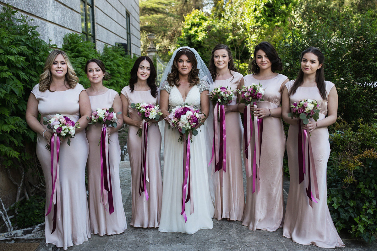 Jenny Packham Glamour and Bridesmaids in Ghost for a Spring Wedding in Puglia