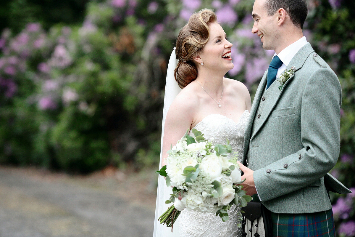 A Watters Gown for a Walled Garden and Old Hollywood Glamour Inspired Wedding