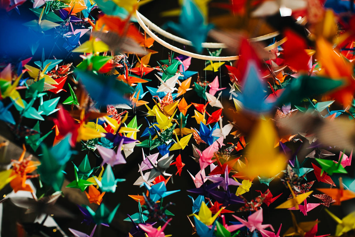 Colourful Paper Cranes, Ceilidh Dancing and Grace Loves Lace Elegance (Weddings )