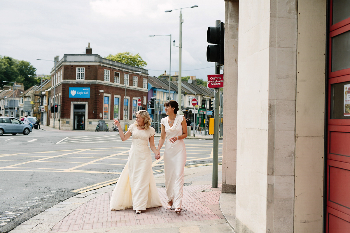 Two Dresses for a 'Touch of Vintage' Inspired Cinema Wedding (Weddings )