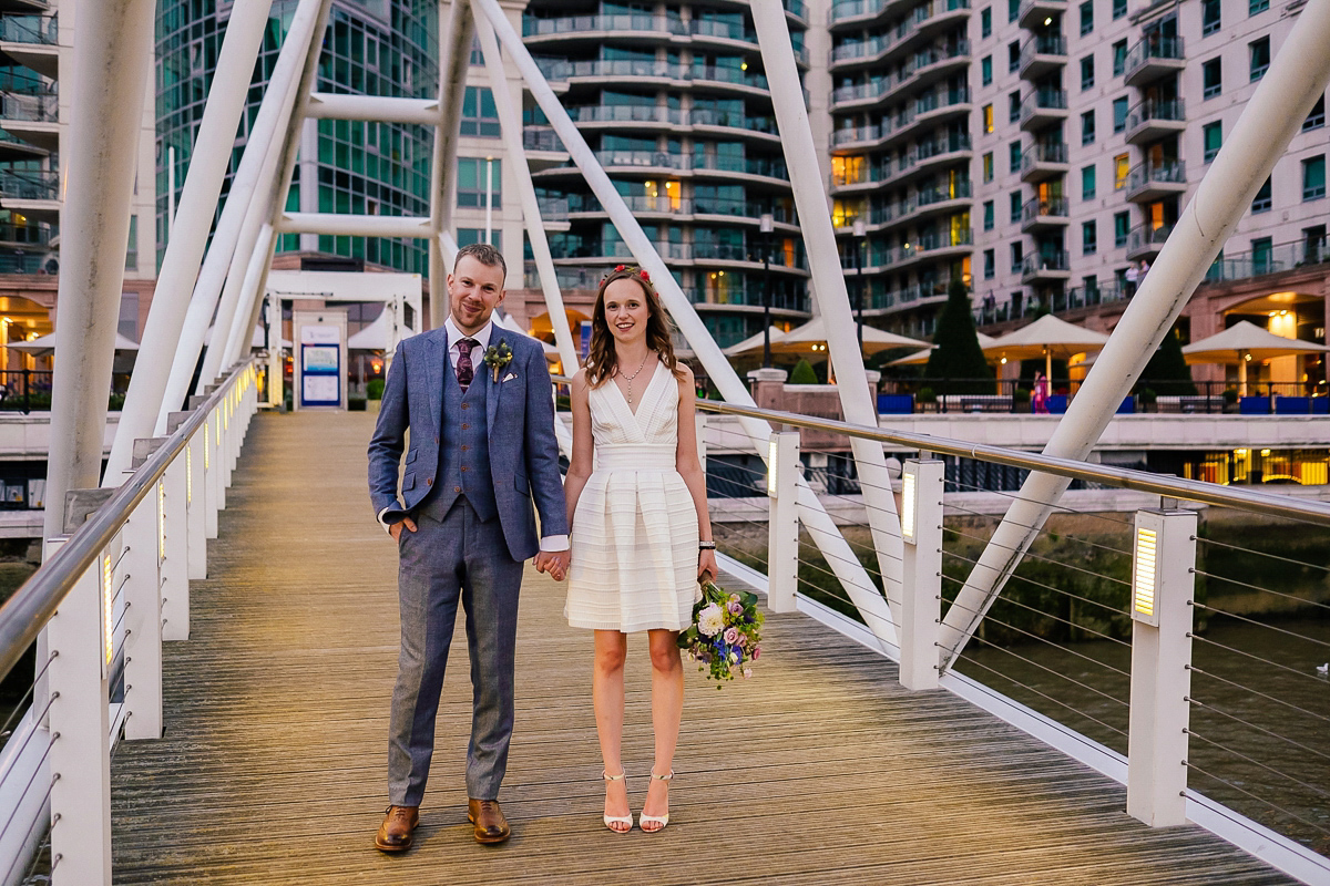 A Short Reiss Dress with Pockets for a Relaxed and Intimate London Wedding