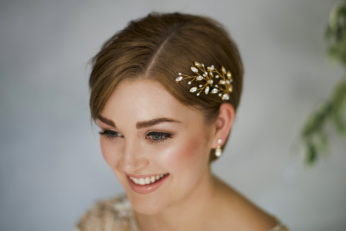 How To Style Wedding Hair Accessories With Short Hair, by Debbie Carlisle (Bridal Fashion Fashion & Beauty Get Inspired Supplier Spotlight )