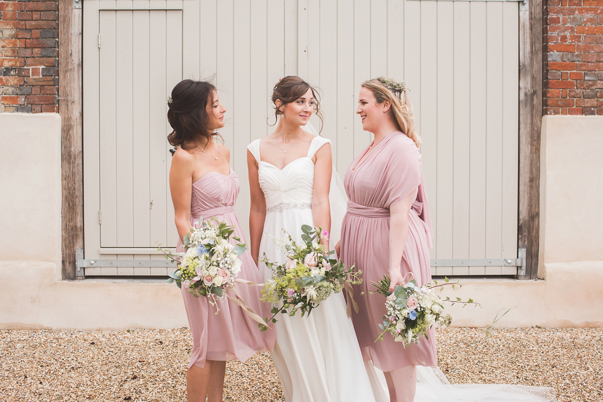 Alfred Angelo and Bridesmaids in ASOS for a Rustic and Romantic Dorset Wedding