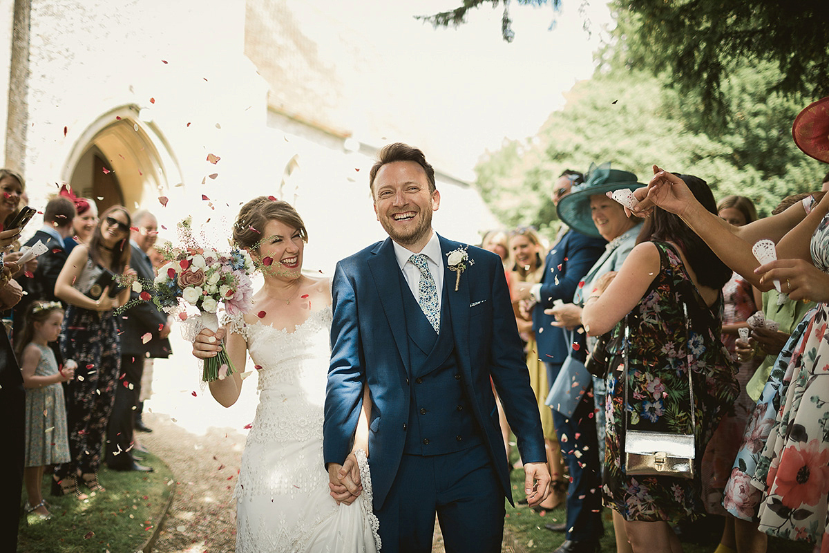 A Claire Pettibone Gown For A Vintage, Country Fete Inspired Wedding (Weddings )