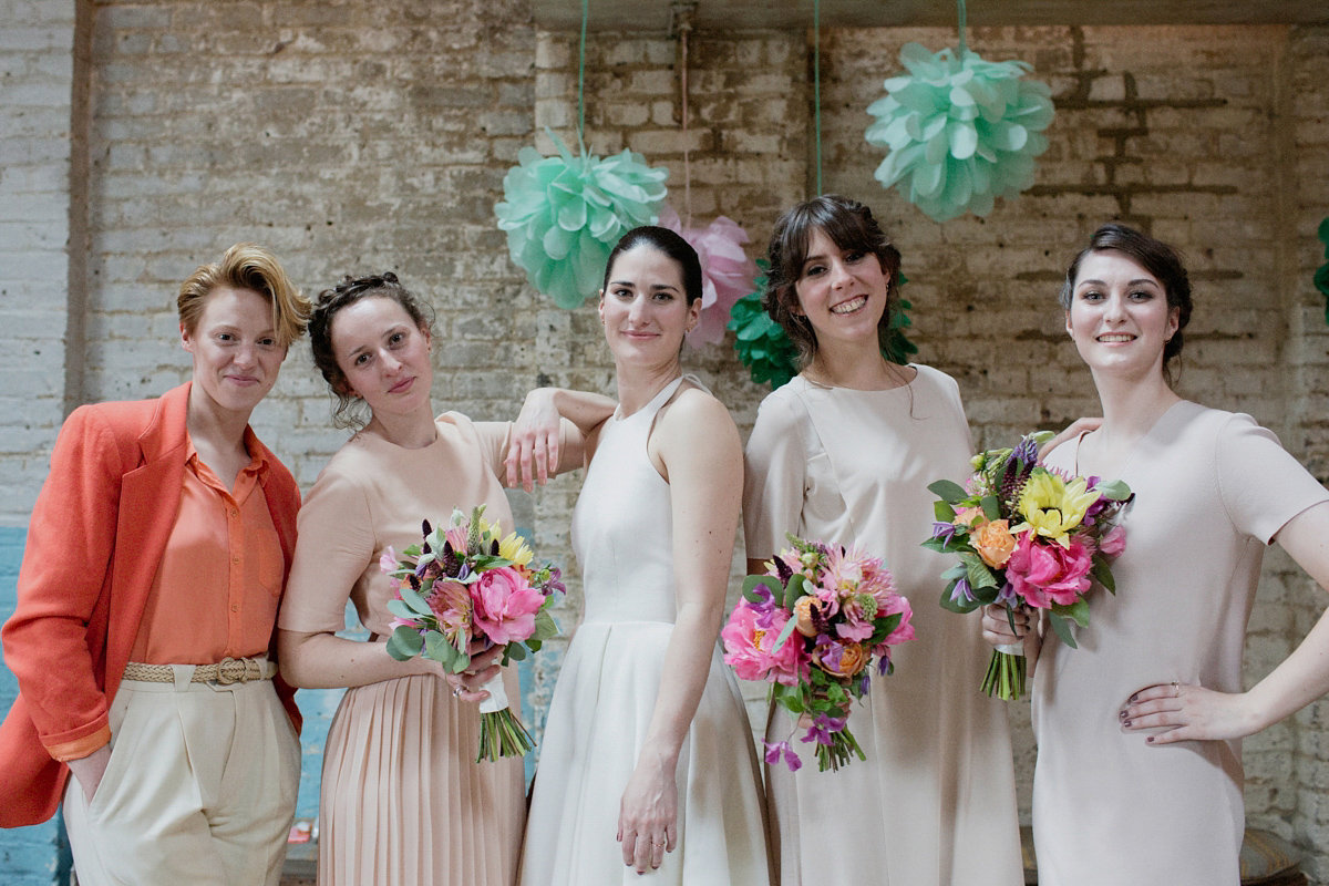 A Halterneck Dress for a Sculpture Inspired, Cool and Modern London Wedding