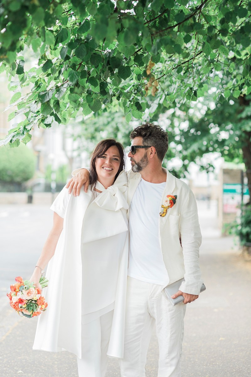 A Halfpenny London Jacket for a Joy-Filled and Laidback London Wedding