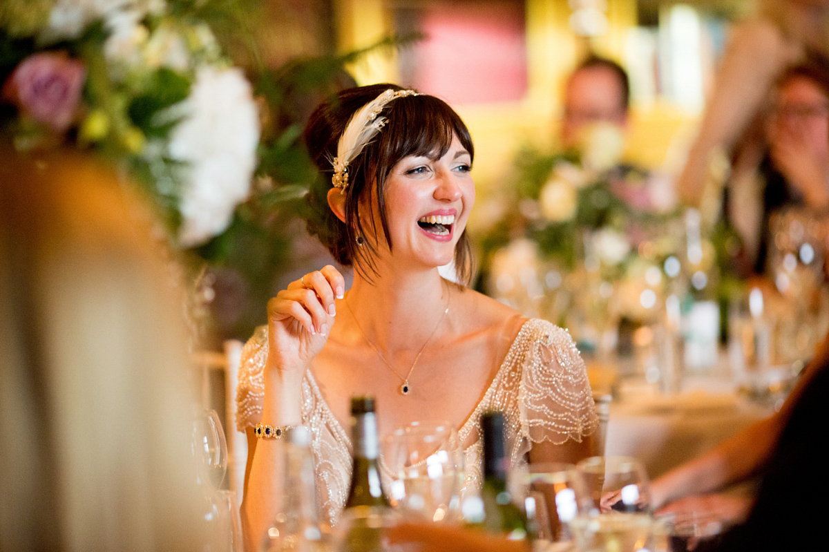Gold, Navy And Blush Pink For A 1920's Prohibition Party Inspired Wedding (Weddings )