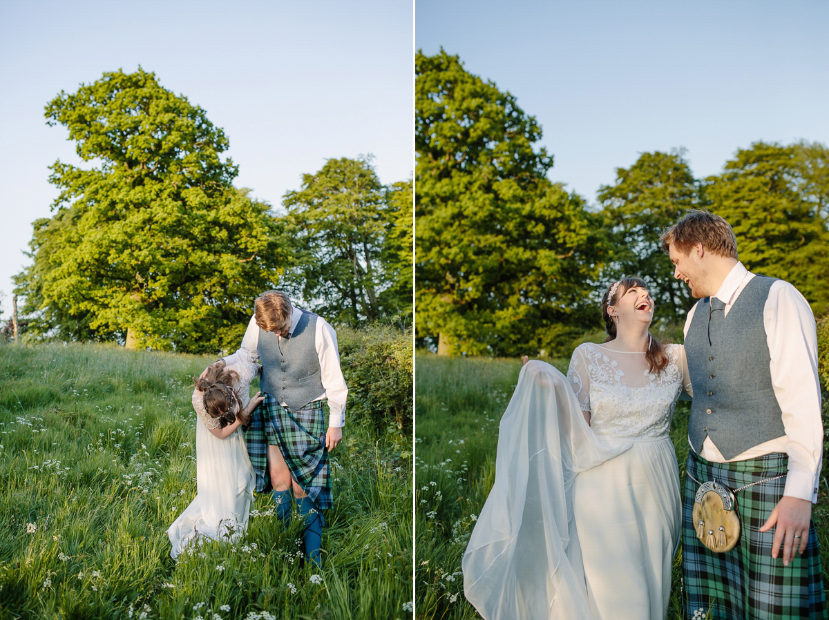 A Temperley London Dress for a Flower-Filled Summer Wedding (Weddings )