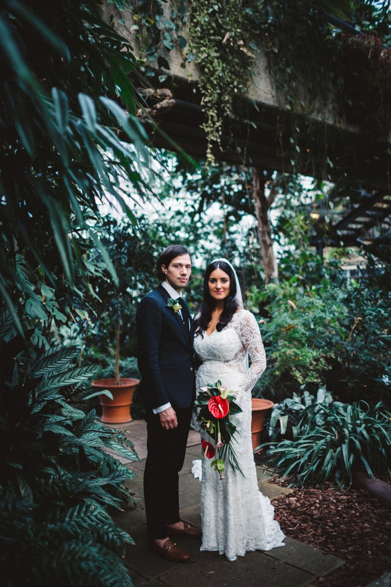 A Nurit Hen Dress for a Modern, Minimalist Wedding at the Barbican