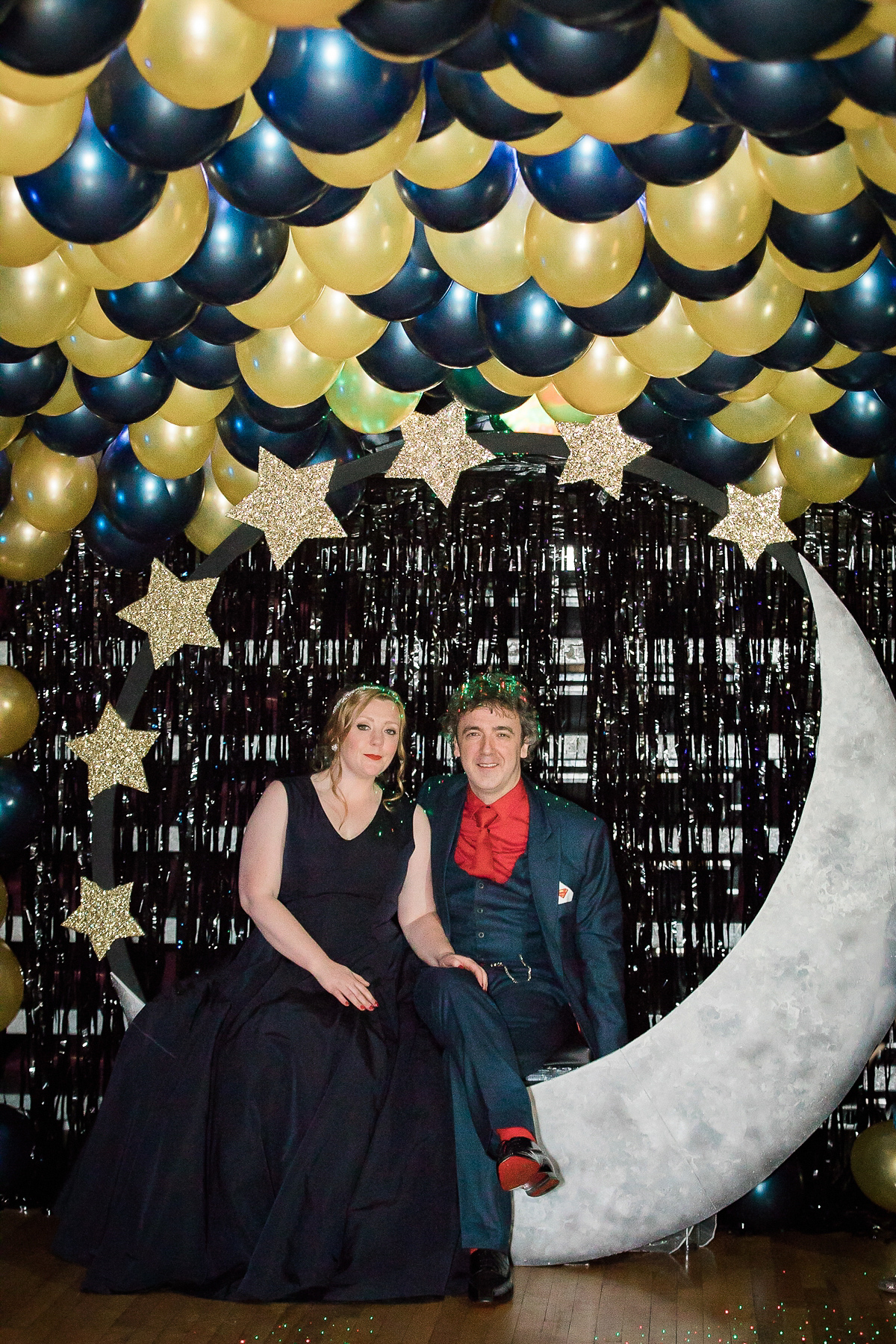 Two Dresses and Charlotte Olympia Shoes for a Star-Filled Theatre Wedding (Weddings )
