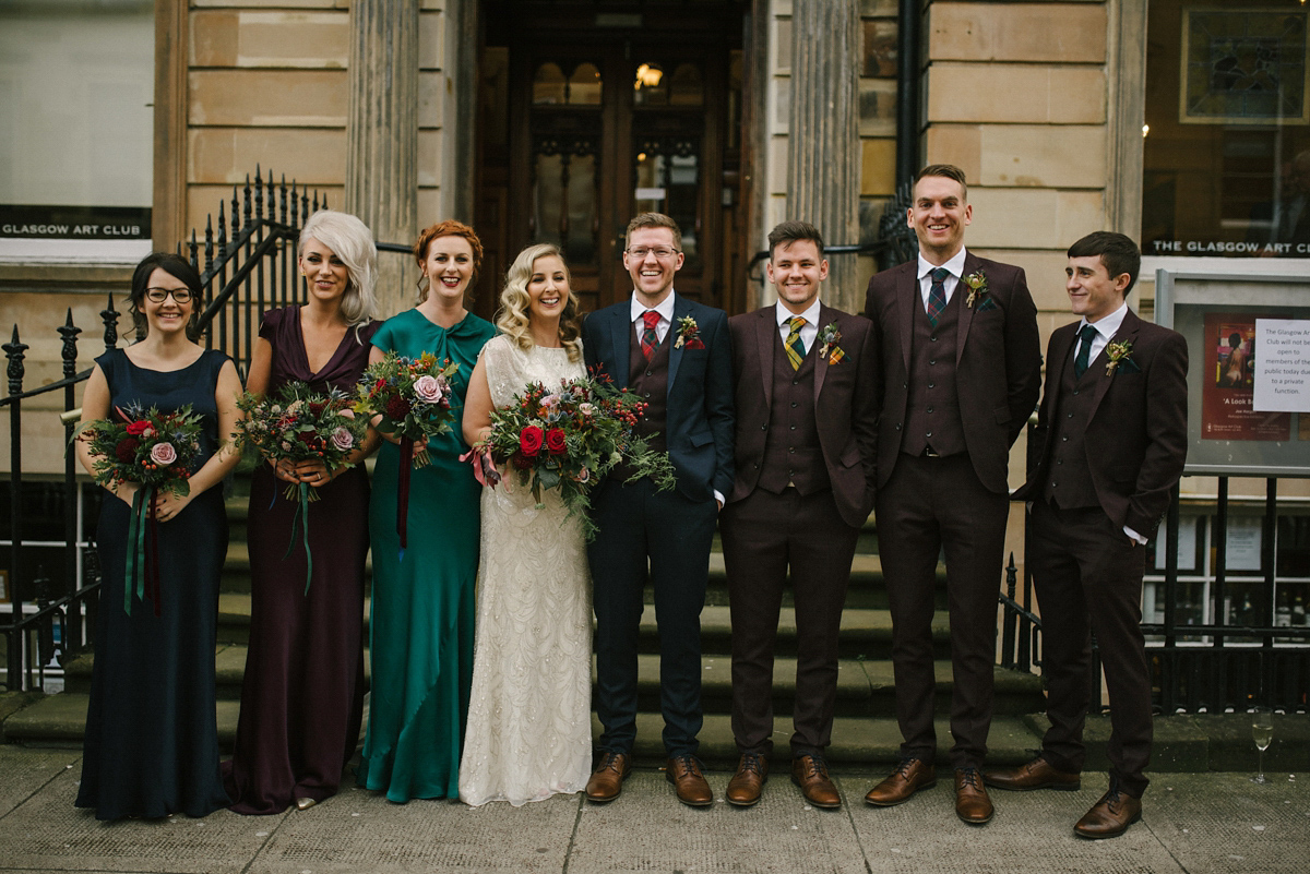 Harlow By Jenny Packham Gown For A Scottish Winter Wedding