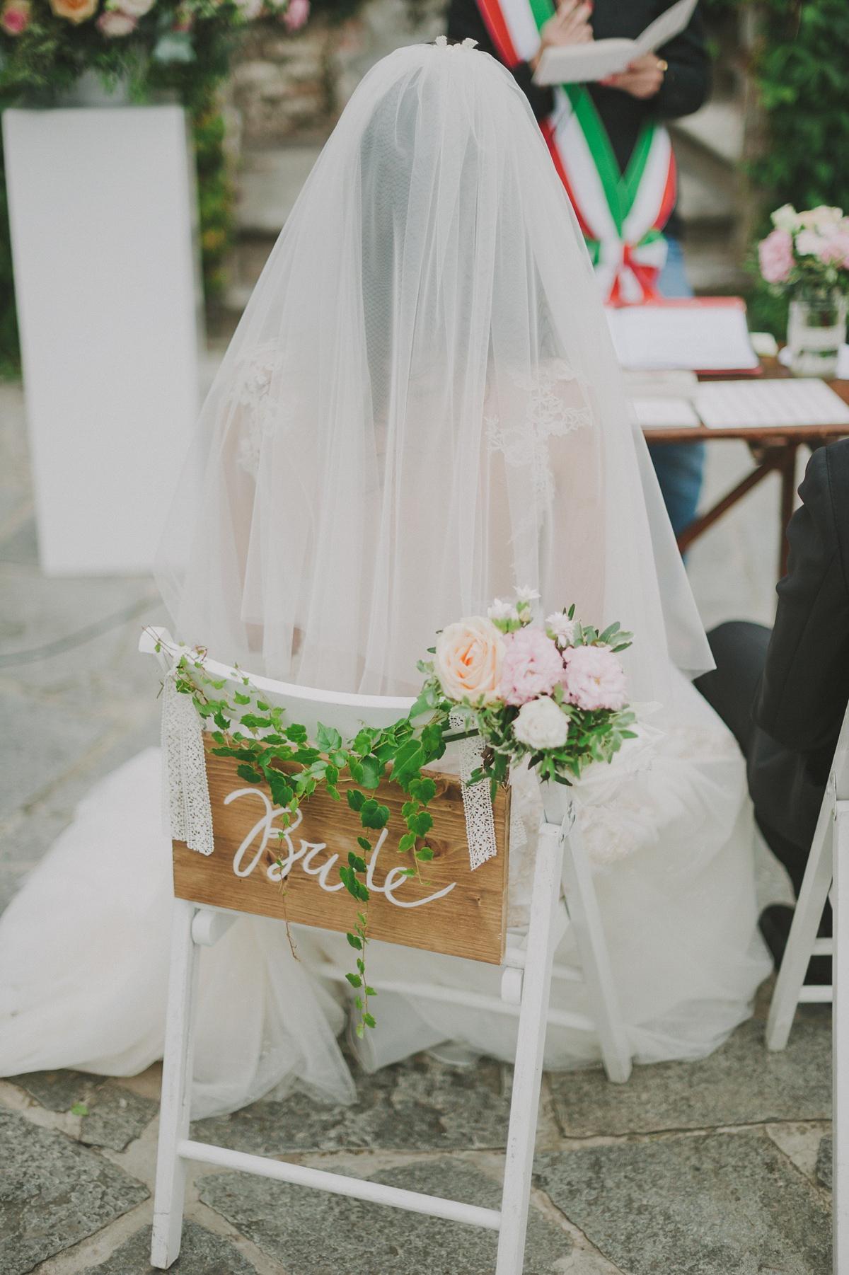 A Gahlia Lahav Dress for a Romantic Italian Garden Wedding (Weddings )