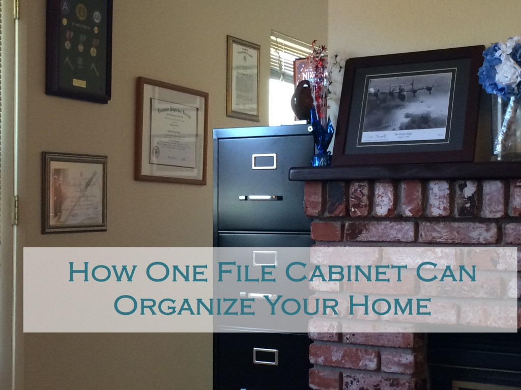How One File Cabinet Can Organize Your Home