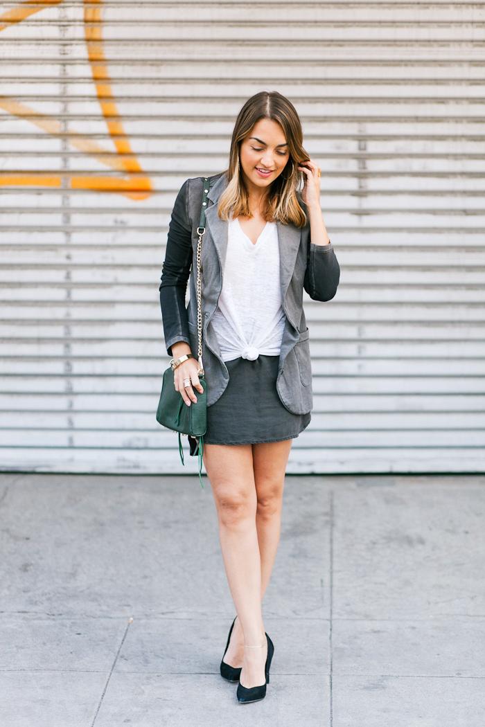 terry skirt and blazer